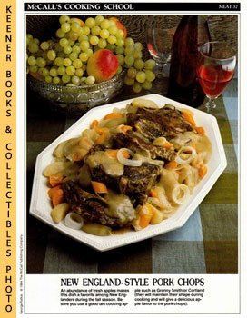 Image for McCall's Cooking School Recipe Card: Meat 37 - Baked Pork Chops With Apples (Replacement McCall's Recipage or Recipe Card For 3-Ring Binders)