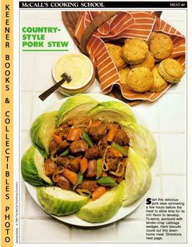 Image for McCall's Cooking School Recipe Card: Meat 40 - Country Pork Stew With Herb Biscuits (Replacement McCall's Recipage or Recipe Card For 3-Ring Binders)