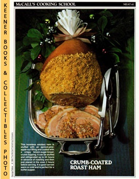 Image for McCall's Cooking School Recipe Card: Meat 41 - Roast Ham With Apricot-Pecan Stuffing (Replacement McCall's Recipage or Recipe Card For 3-Ring Binders)