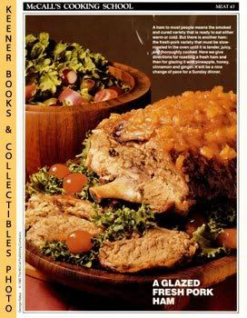 Image for McCall's Cooking School Recipe Card: Meat 43 - Pineapple-Glazed Roast Pork (Replacement McCall's Recipage or Recipe Card For 3-Ring Binders)