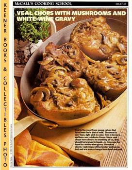 Image for McCall's Cooking School Recipe Card: Meat 45 - Veal Chops With Mushrooms (Replacement McCall's Recipage or Recipe Card For 3-Ring Binders): McCall's Cooking School Cookbook Series