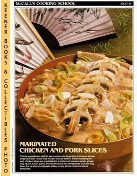 Image for McCall's Cooking School Recipe Card: Meat 46 - Sliced Chicken And Pork (Replacement McCall's Recipage or Recipe Card For 3-Ring Binders): McCall's Cooking School Cookbook Series