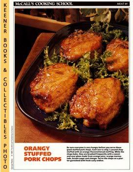 Image for McCall's Cooking School Recipe Card: Meat 48 - Orange-Glazed Pork Chops (Replacement McCall's Recipage or Recipe Card For 3-Ring Binders): McCall's Cooking School Cookbook Series