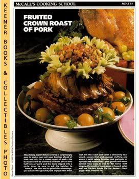 Image for McCall's Cooking School Recipe Card: Meat 54 - Crown Roast Of Pork With Fruit Stuffing (Replacement McCall's Recipage or Recipe Card For 3-Ring Binders): McCall's Cooking School Cookbook Series