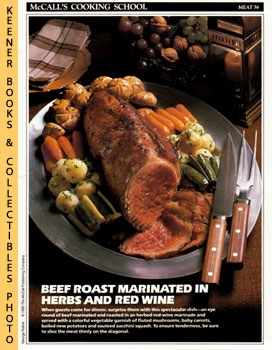 Image for McCall's Cooking School Recipe Card: Meat 56 - Roast Eye Round Of Beef (Replacement McCall's Recipage or Recipe Card For 3-Ring Binders): McCall's Cooking School Cookbook Series