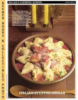 Image for McCall's Cooking School Recipe Card: Pasta, Rice 5 - Baked Pasta Shells Marinara (Replacement McCall's Recipage or Recipe Card For 3-Ring Binders): McCall's Cooking School Cookbook Series