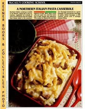 Image for McCall's Cooking School Recipe Card: Pasta, Rice 9 - Baked Ziti-And-Italian-Sausage Casserole (Replacement McCall's Recipage or Recipe Card For 3-Ring Binders): McCall's Cooking School Cookbook Series