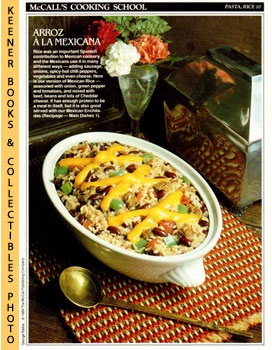 Image for McCall's Cooking School Recipe Card: Pasta, Rice 10 - Mexican Rice (Replacement McCall's Recipage or Recipe Card For 3-Ring Binders): McCall's Cooking School Cookbook Series