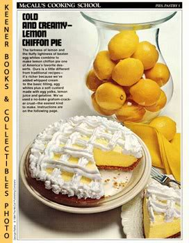 Image for McCall's Cooking School Recipe Card: Pies, Pastry 5 - Lemon Chiffon Pie (Replacement McCall's Recipage or Recipe Card For 3-Ring Binders)