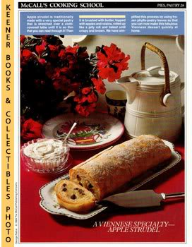 Image for McCall's Cooking School Recipe Card: Pies, Pastry 28 - Apple Strudel (Replacement McCall's Recipage or Recipe Card For 3-Ring Binders)