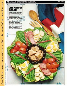 Image for McCall's Cooking School Recipe Card: Salads 2 - Salade Nicoise (Replacement McCall's Recipage or Recipe Card For 3-Ring Binders)