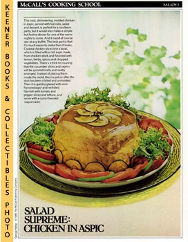 Image for McCall's Cooking School Recipe Card: Salads 5 - Chicken Salad In Aspic (Replacement McCall's Recipage or Recipe Card For 3-Ring Binders)