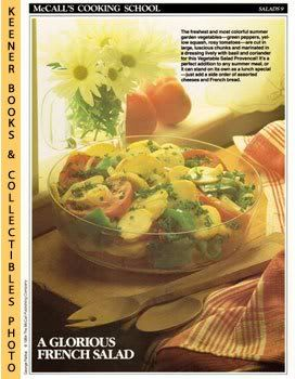 Image for McCall's Cooking School Recipe Card: Salads 9 - Vegetable Salad Provencal (Replacement McCall's Recipage or Recipe Card For 3-Ring Binders)