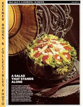 Image for McCall's Cooking School Recipe Card: Salads 10 - Cobb Salad With Russian Dressing (Replacement McCall's Recipage or Recipe Card For 3-Ring Binders)
