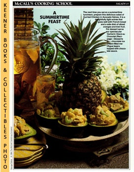 Image for McCall's Cooking School Recipe Card: Salads 15 - Curried-Chicken Salad In Avocado Halves (Replacement McCall's Recipage or Recipe Card For 3-Ring Binders)
