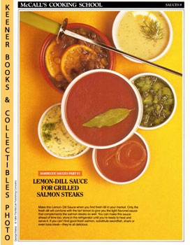 Image for McCall's Cooking School Recipe Card: Sauces 8 - Lemon-Dill Sauce For Grilled Salmon Steaks (Replacement McCall's Recipage or Recipe Card For 3-Ring Binders): McCall's Cooking School Cookbook Series