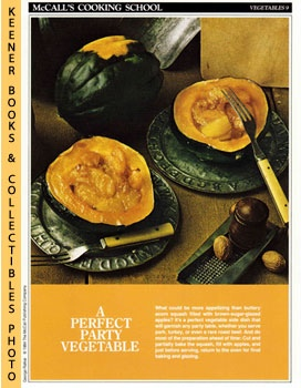 Image for McCall's Cooking School Recipe Card: Vegetables 9 - Baked Acorn Squash With Apples (Replacement McCall's Recipage or Recipe Card For 3-Ring Binders)