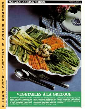 Image for McCall's Cooking School Recipe Card: Vegetables 10 - Vegetables A La Grecque (Replacement McCall's Recipage or Recipe Card For 3-Ring Binders)