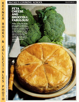 Image for McCall's Cooking School Recipe Card: Vegetables 11 - Broccoli-And-Cheese Pie (Replacement McCall's Recipage or Recipe Card For 3-Ring Binders)