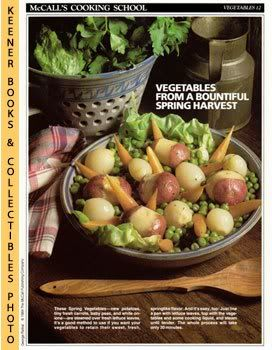 Image for McCall's Cooking School Recipe Card: Vegetables 12 - Spring Vegetables (Replacement McCall's Recipage or Recipe Card For 3-Ring Binders): McCall's Cooking School Cookbook Series
