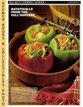 Image for McCall's Cooking School Recipe Card: Vegetables 17 - Ratatouille-Stuffed Peppers (Replacement McCall's Recipage or Recipe Card For 3-Ring Binders): McCall's Cooking School Cookbook Series