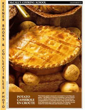Image for McCall's Cooking School Recipe Card: Vegetables 18 - Deep-Dish Potato Pie (Replacement McCall's Recipage or Recipe Card For 3-Ring Binders): McCall's Cooking School Cookbook Series