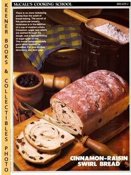 Image for McCall's Cooking School Recipe Card: Breads 2 - Cinnamon Raisin Bread (Replacement McCall's Recipage or Recipe Card For 3-Ring Binders)