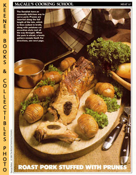 Image for McCall's Cooking School Recipe Card: Meat 10 - Prune-Stuffed Roast Pork With Browned Potatoes, Swedish Style (Replacement McCall's Recipage or Recipe Card For 3-Ring Binders): McCall's Cooking School Cookbook Series