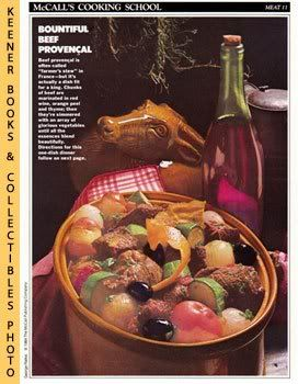 Image for McCall's Cooking School Recipe Card: Meat 11 - Beef Stew Provencal (Replacement McCall's Recipage or Recipe Card For 3-Ring Binders): McCall's Cooking School Cookbook Series