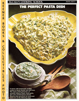 Image for McCall's Cooking School Recipe Card: Pasta, Rice 1 - Noodles With Pesto Sauce (Replacement McCall's Recipage or Recipe Card For 3-Ring Binders): McCall's Cooking School Cookbook Series
