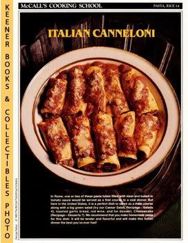Image for McCall's Cooking School Recipe Card: Pasta, Rice 14 - Canneloni (Replacement McCall's Recipage or Recipe Card For 3-Ring Binders): McCall's Cooking School Cookbook Series