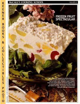 Image for McCall's Cooking School Recipe Card: Salads 17 - Frozen Fruit Salad (Replacement McCall's Recipage or Recipe Card For 3-Ring Binders): McCall's Cooking School Cookbook Series