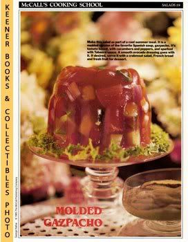 Image for McCall's Cooking School Recipe Card: Salads 19 - Molded Gazpacho Salad With Avocado Dressing (Replacement McCall's Recipage or Recipe Card For 3-Ring Binders): McCall's Cooking School Cookbook Series