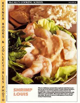 Image for McCall's Cooking School Recipe Card: Salads 20 - Shrimp Louis (Replacement McCall's Recipage or Recipe Card For 3-Ring Binders): McCall's Cooking School Cookbook Series