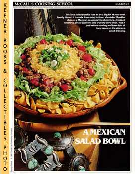 Image for McCall's Cooking School Recipe Card: Salads 23 - Taco Salad Bowl (Replacement McCall's Recipage or Recipe Card For 3-Ring Binders): McCall's Cooking School Cookbook Series