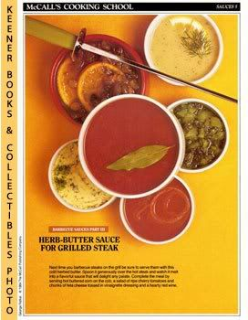 Image for McCall's Cooking School Recipe Card: Sauces 5 - Herb-Butter Sauce For Grilled Steak (Replacement McCall's Recipage or Recipe Card For 3-Ring Binders): McCall's Cooking School Cookbook Series