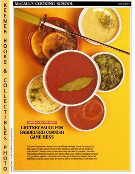 Image for McCall's Cooking School Recipe Card: Sauces 7 - Chutney Sauce For Barbecued Cornish Game Hens (Replacement McCall's Recipage or Recipe Card For 3-Ring Binders): McCall's Cooking School Cookbook Series