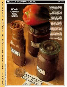 Image for McCall's Cooking School Recipe Card: Sauces 9 - Mother's Chili Sauce (Replacement McCall's Recipage or Recipe Card For 3-Ring Binders): McCall's Cooking School Cookbook Series