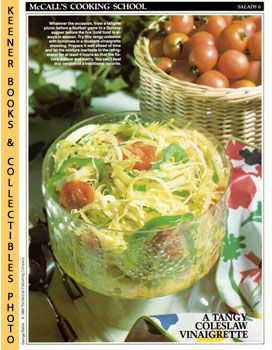 Image for McCall's Cooking School Recipe Card: Salads 6 - Coleslaw With Tomatoes (Replacement McCall's Recipage or Recipe Card For 3-Ring Binders): McCall's Cooking School Cookbook Series