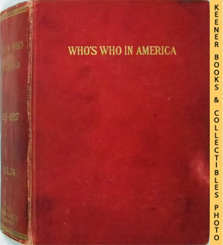 Image for Who's Who in America, 1926-1927, Vol. 14 : A Biographical Dictionary Of Notable Living Men And Women In The United States