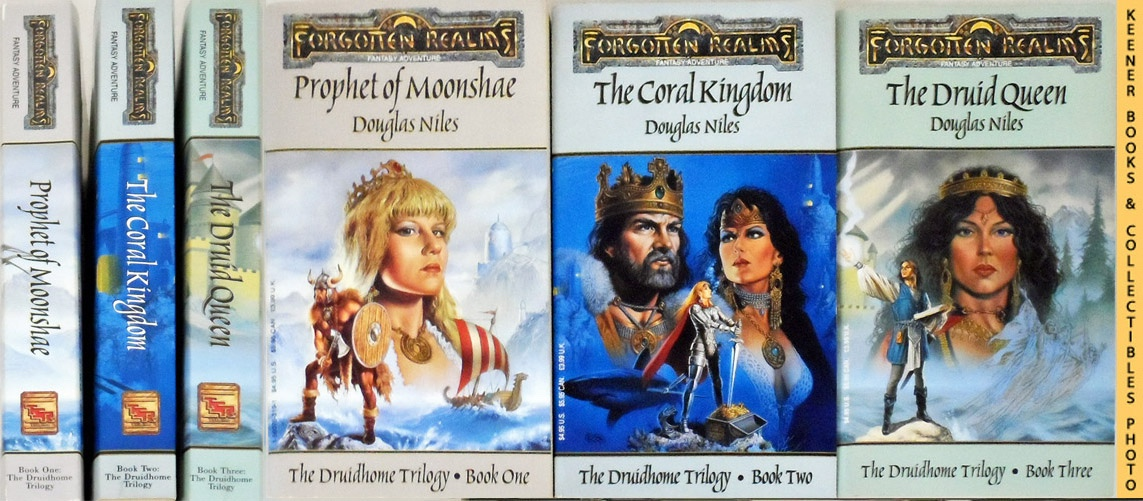 Image for The Druidhome Trilogy, Complete 3 Book Series : Prophet of Moonshae / The Coral Kingdom / The Druid Queen  : Forgotten Realms Fantasy Adventures Series