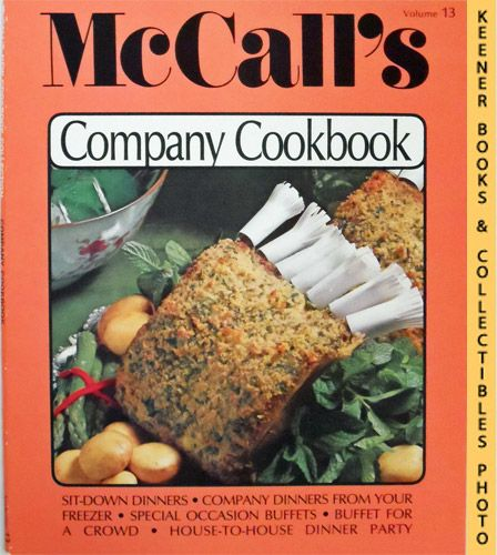 Image for McCall's Company Cookbook, Vol. 13: McCall's New Cookbook Collection Series
