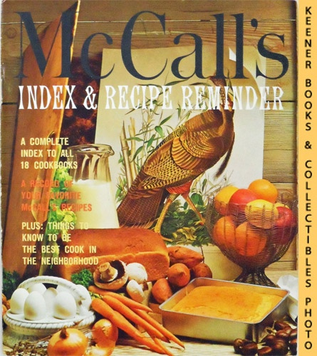 McCall's Index & Recipe Reminder, Last Volume of Collection: McCall's  Cookbook Collection Series