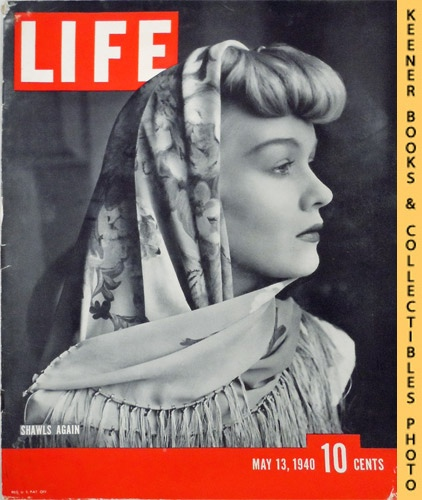 Image for Life Magazine, May 13, 1940, Volume 8, Number 20 - Cover: Shawls Again, Ernette Mueseler