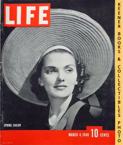 Image for Life Magazine March 4, 1940 - Volume 8, Number 10 - Cover: Spring Sailor - Anita Colby