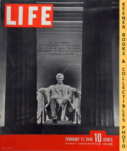 Image for Life Magazine February 11, 1946 - Volume 20, Number 6 - Cover: Lincoln Memorial