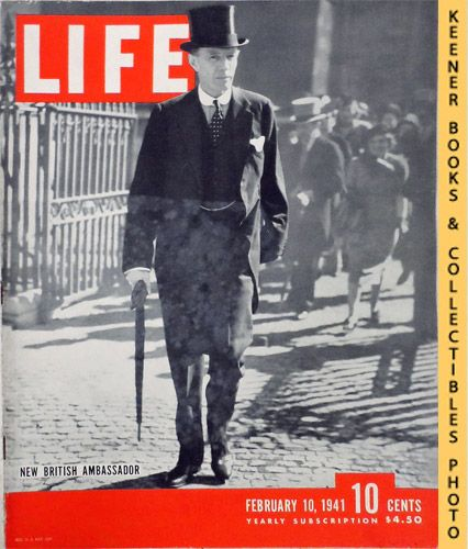 Image for Life Magazine February 10, 1941 - Volume 10, Number 6 - Cover: New British Ambassador