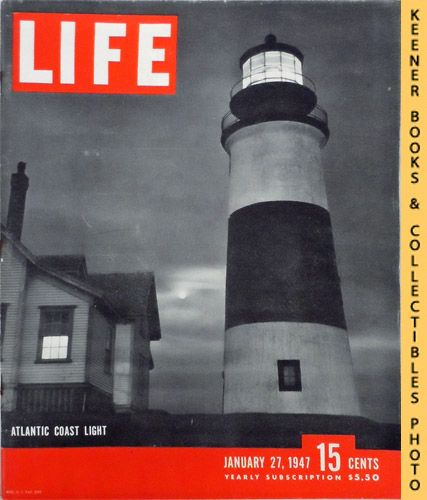 Image for Life Magazine January 27, 1947 - Volume 22, Number 4 - Cover: Atlantic Coast Light
