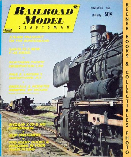 Image for Railroad Model Craftsman Magazine, November 1968 (Vol. 37, No. 6)