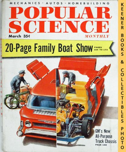 Image for Popular Science Monthly Magazine, March 1955 (Vol. 166, No. 3) : Mechanics - Autos - Homebuilding